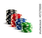 casino chips realistic isolated ... | Shutterstock .eps vector #457270000