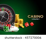 casino background with dice ... | Shutterstock .eps vector #457270006