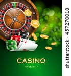 casino background with golden... | Shutterstock .eps vector #457270018