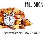 Alarm Clock In Colorful Autumn...