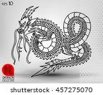 illustration of traditional... | Shutterstock .eps vector #457275070