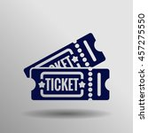 blue ticket icon on the gray... | Shutterstock .eps vector #457275550