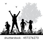 vector isolated silhouette of... | Shutterstock .eps vector #457276273