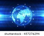 vector digital global... | Shutterstock .eps vector #457276294