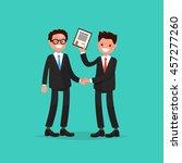 award ceremony. employee... | Shutterstock .eps vector #457277260