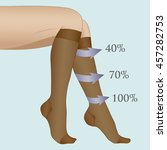 medical compression hosiery for ... | Shutterstock .eps vector #457282753