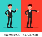 likes and dislikes. good and... | Shutterstock .eps vector #457287538