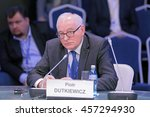Small photo of SAINT-PETERSBURG, RUSSIA - JUN 16, 2016: St. Petersburg International Economic Forum SPIEF-2016. Piotr Dutkiewicz, Director of the Center for governance and public policy at Carleton University