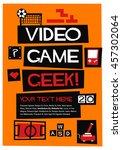 video game geek   vector... | Shutterstock .eps vector #457302064