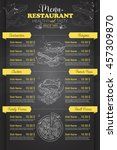 restaurant vertical scetch menu | Shutterstock .eps vector #457309870