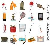 set of twenty fishing color... | Shutterstock .eps vector #457317199