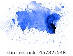 colorful abstract watercolor... | Shutterstock .eps vector #457325548