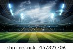 lights at night and stadium 3d... | Shutterstock . vector #457329706