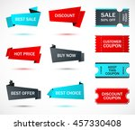 vector stickers  price tag ... | Shutterstock .eps vector #457330408