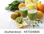 vegetable and fruits juice | Shutterstock . vector #457334800