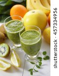 vegetable and fruits juice | Shutterstock . vector #457334956