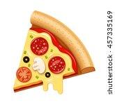 vector hot pizza slice with... | Shutterstock .eps vector #457335169