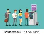 turn into atm. vector...   Shutterstock .eps vector #457337344