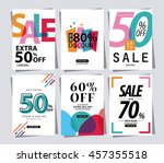 set of sale banner poster tag... | Shutterstock .eps vector #457355518