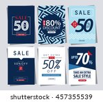 set of sale banner poster tag... | Shutterstock .eps vector #457355539