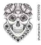 skull art smiley face day of...   Shutterstock . vector #457359550