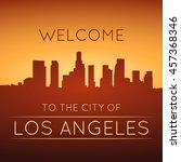 the city of los angeles.... | Shutterstock .eps vector #457368346