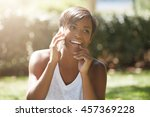 close up portrait of beautiful... | Shutterstock . vector #457369228