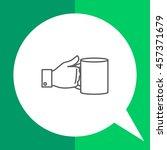 hand holding mug | Shutterstock .eps vector #457371679