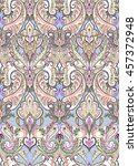 pastel paisley pattern....   Shutterstock . vector #457372948