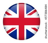 uk flag glossy button. | Shutterstock .eps vector #457386484