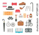 Flat Design Grandparents Items...