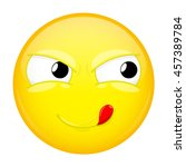 Lick Lips Emoji. Good Emotion....