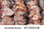 roasted barbecue beef meat... | Shutterstock . vector #457390108