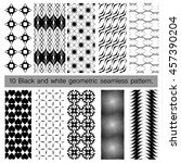 collection of black and white... | Shutterstock .eps vector #457390204
