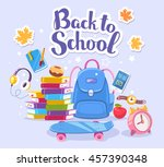 vector colorful illustration of ... | Shutterstock .eps vector #457390348