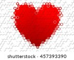 background heart shaped red and ... | Shutterstock . vector #457393390