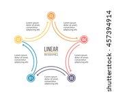 linear infographics. outline...   Shutterstock .eps vector #457394914