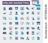 online marketing icons | Shutterstock .eps vector #457400140