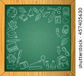 vector school chalkboard... | Shutterstock .eps vector #457405630