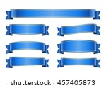 ribbon banners set. sign blank... | Shutterstock . vector #457405873