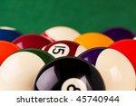 billiard balls | Shutterstock . vector #45740944