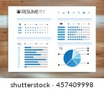 abstract resume info graphic... | Shutterstock .eps vector #457409998