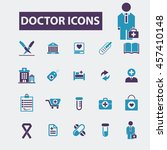doctor icons | Shutterstock .eps vector #457410148