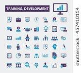 training development icons | Shutterstock .eps vector #457410154