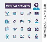 medical services icons | Shutterstock .eps vector #457411138