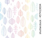 colorful vector seamless... | Shutterstock .eps vector #457413034