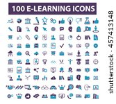 learning icons | Shutterstock .eps vector #457413148