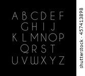thin font. vector illustration... | Shutterstock .eps vector #457413898