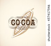 retro vintage cocoa label with... | Shutterstock .eps vector #457417546