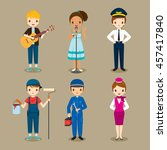 people with different... | Shutterstock .eps vector #457417840